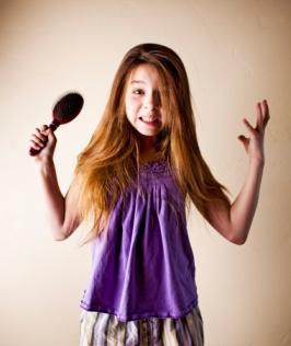 Preteen Series: Frustration Brushing Hair